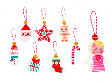 Janod Wooden Christmas Ornaments